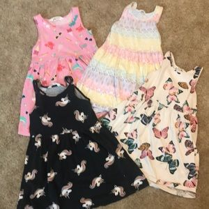 4 H&M tank dress bundle. Size 4-6. Cute and comfy!
